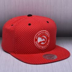 buy online 98e88 67db9 Mitchell   Ness NBA Atlanta Hawks Dotted Cotton Snapback Kepurė