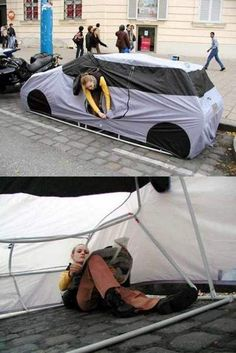 Urban Camping - why would I want to camp in the middle of a city? Or in the road? That's just a fancy hobo