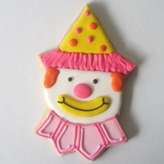 Clown Cookie by Alis Sweet Treats (Andrea), via Flickr