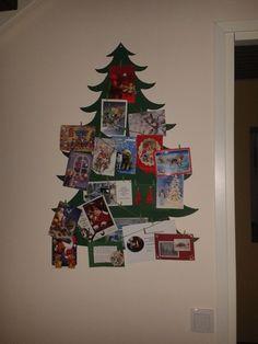 Joulukorttien teline