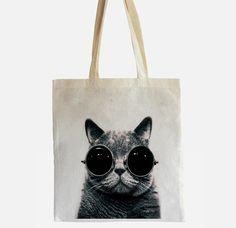 Jutebeutel Katze // tote bag by Circular via DaWanda.com