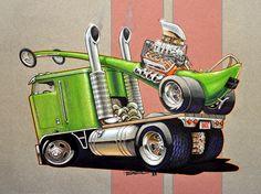 Cartoon Car Drawing, Cartoon Rat, Car Drawings, Cartoon Pics, Rat Fink, Weird Cars, Cool Cars, Rat Rods, Cartoons Magazine