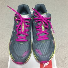 BRAND NEW! New Balance NEVER WORN! BRAND NEW! New balance trail running shoes. Size 9.5, Medium Width. Gray with purple laces and neon green details. Super cute! Fresh foam technology. Style #WT980GP. Selling at retail price, price is firm! New Balance Shoes Athletic Shoes