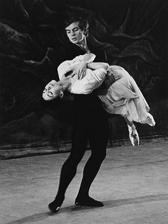 """gemmaword: """" Margot Fonteyn and Rudolf Nureyev in 1962 in rehearsal for 'Giselle' – their first performance together at Covent Garden. Ph. Michael Peto """""""
