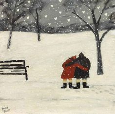 gary bunt(1957- ), love grows. oil on canvas, 12 x 12 ins. portland gallery, london, uk http://www.portlandgallery.com/artist/Gary_Bunt/item/archive/29974/(69)_Love_Grows