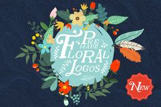 Premade Floral Logos by Mia Charro on Creative Market