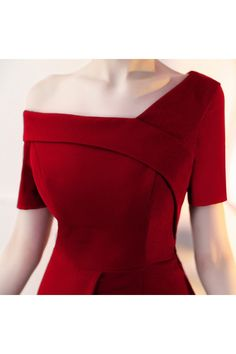 Shop Burgundy Sheath Cocktail Party Dress with Asymmetrical Design online. SheProm offers formal, party, casual & more style dresses to fit your special occasions. Dresses For Teens, Casual Dresses, Fashion Dresses, Blue Bridesmaid Dresses, Bridal Dresses, Party Dresses, Evening Dresses, Summer Dresses, Long Cocktail Dress
