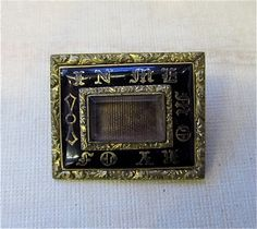 Victorian Mourning Hair Locket Brooch by mysterymister on Etsy, $89.00