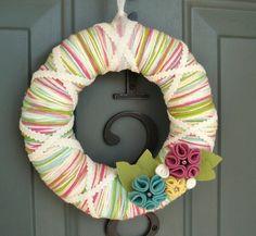 Hilo corona fieltro decoración de la puerta hecha a por ItzFitz