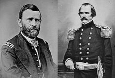 The Battle of Shiloh began at sunrise on April 6, 1862 — the Sabbath — as 45,000 Confederate soldiers swooped down on an unsuspecting Union army encamped at Pittsburg Landing, a nondescript hog-and-cotton steamboat dock on the Tennessee River. What followed were two of the bloodiest days of the Civil War, leaving 24,000 men on both sides dead, dying and wounded. (Above Gen. Ulysses S. Grant & Gen. Albert Sidney Johnston)