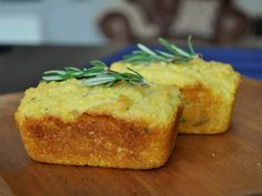 Mini Rosemary Polenta Loaves.  If I purchase some mini loaf pans, this'll be the first experiment in mini-baking. :)