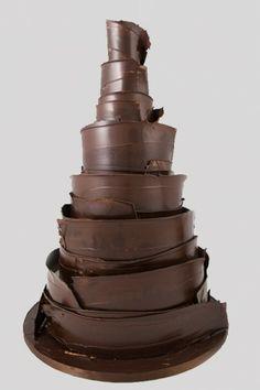 Dark Chocolate Wrapped Cake