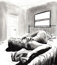#inktober day 11  #inktober2016 #illustration #inkt #composition #instaart #art #drawing #sketch #creative #filmnoir #girl #lazy #morning #wakingup