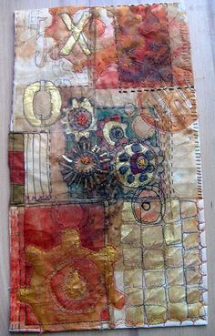 teabag + mixed media = amazing wonderful artwork by Jane LaFazio