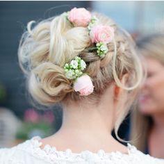 Hair up bridal