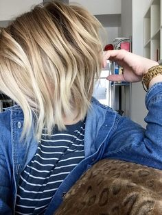 Cut + thinned + blonde balayage by Taylor at Alchemy Salon + Spa in Sacramento, CA