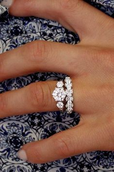 18 Excellent Wedding Ring Sets For Beautiful Women ❤️ wedding ring sets three stone diamond ❤️ More on the blog: https://ohsoperfectproposal.com/wedding-ring-sets/ #weddingring #weddingrings
