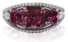 A fancy red diamond trio. Gems Jewelry, I Love Jewelry, High Jewelry, Diamond Jewelry, Body Jewelry, Diamond Rings, Jewlery, Glitter Rocks, Diamond Dreams