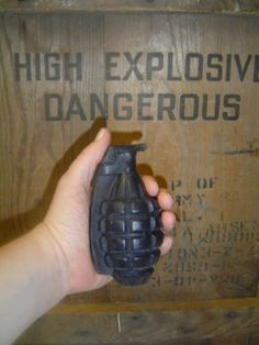 Black hand grenade soap for guys