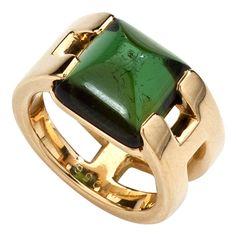 HERMES Tourmaline Gold Ring