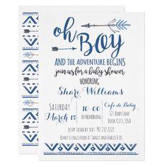 Oh Boy Tribal Baby Shower Invitation -CUSTOM (affiliate)