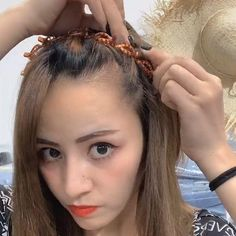 Easy Hairstyles For Long Hair, Hairstyles With Bangs, Braided Hairstyles, Bangs Hairstyle, Open Hairstyles, Bandana Hairstyles, Hairstyle Ideas, Medium Hair Styles, Curly Hair Styles