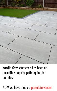 The stunning rich Kandla Grey tone works wonderfully throughout the seasons. And now it has the super charged characteristics of our premium outdoor porcelain. KANDLA Grey is available in 2 sizes: 60x60cm and 60x90cm. What we have here is a 20mm Porcelain outdoor tile with all the super charged benefits that come with that. Order your slip-resistant patio today. Paving Slabs Ireland Outdoor tiles Ireland Outdoor tiles Dublin Sandstone or Limestone Paving Slabs Ireland Limestone Paving, Paving Slabs, Outdoor Tiles, Porcelain, Patio, Grey, Ireland, Seasons