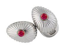 Fabergé Grigori Ruby White Gold Cufflinks #Fabergé #cufflinks