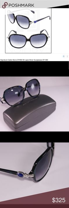 8bf0556f94 David Yurman Classic Cable Lapis Sunnies Brand New David Yurman Lapis Stone  Sunglasses in case
