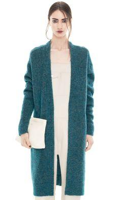 Raya Long Mohair Petrol Blue #ACNE #knitwear