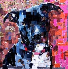 #Beautiful #dogs ALWAYS make great # art!  Collage on Canvas. 2012.  Artist: Samuel Price  www.mydogcollage.com