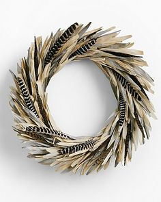 Corn Husk and Feather Wreath