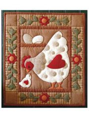 Spotty Hen Wall quilt kit $14.99