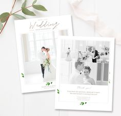 Make a great first impression and delight customers with this modern, whimsical wedding photography magazine template. Use pages in this magazine format or incorporate individually into your presentation folder. This 12-page template gives your studio a branded look and feel, allowing you t