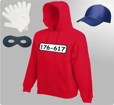 Für Panzerknacker Kostüm Fans Kapuzensweatshirt Karneval Fasching Hoodie Gruppen