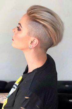 Undercut Hairstyles Women, Short Hair Undercut, Funky Hairstyles, Short Hairstyles For Women, Undercut Styles, Disconnected Undercut Men, Undercut Girl, Shaved Undercut, Undercut Women