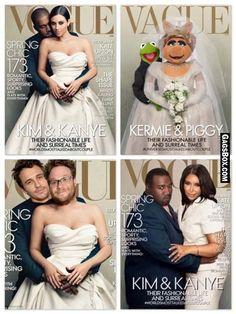 I think Ms Piggy & Kermit totally owned the Vogue April cover - #funny, #lol, #fun, #humor, #comics, #meme, #gag, #box, #lolpics, #Funnypics, #GagsBox,