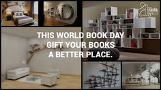 Happy #WorldBookDay !  Books design your Mind and Life. Don't forget to design a place for them while designing your home and office.