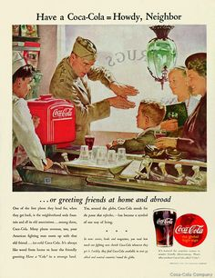 """With the onset of World War II  Coca-Cola President Robert W. Woodruff ordered a special group of 148 Coca-Cola employees in the U.S. military to somehow deliver Cokes to every G.I. """"for five cents, wherever he is, and whatever it costs the company."""" More than 5 billion servings of Coke would be distributed to wartime U.S. troops."""