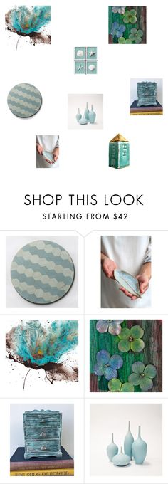 """""""Duck egg blue home ware"""" by einder ❤ liked on Polyvore featuring interior, interiors, interior design, home, home decor and interior decorating"""