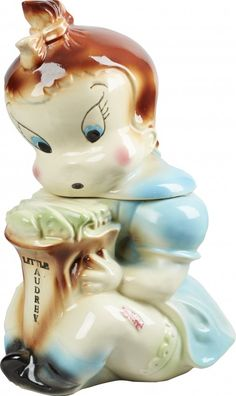 Rare American Bisque Little Audrey Ceramic Cookie Jar