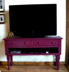 DIY. Media Table. Gorgeous color!