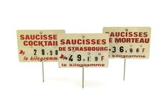 French Butchery Display Labels. Vintage French by LeBonheurDuJour