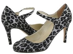 Type Z Womens SZ 8 Shoes Strappy Pumps Heels Leopard Animal Print Satin Leather