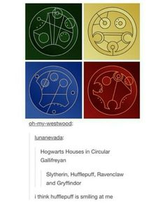Of course Hufflepuff is smiling. They're the most chilled back House at Hogwarts.