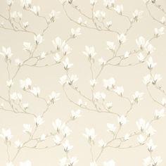 Magnolia Grove Natural Wallpaper