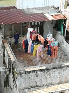 View from the apartment in Sai Ying Pun.It seems my neighbour was a monk of some sort? Hong Kong, Your Photos, Fair Grounds, Photo And Video, Fun, Hilarious