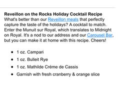 Minuit Sur Royale cocktail
