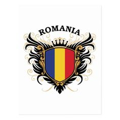 Cool crest design with national flag of Romania Gender: unisex. Christmas In Italy, Political Events, Studio Logo, National Flag, Family Gifts, Romania, Peru, Hetalia, Viajes
