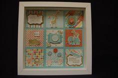 Collage Picture using Stampin' Up Zoo Babies Stamp Set. Original design by Sheena Mairs, NI Stampin' Up Demonstrator